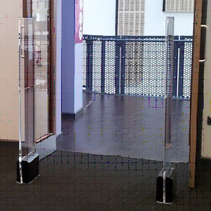 Crystal Clear security pedestals for shops